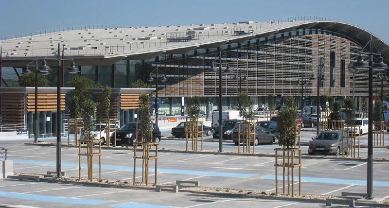 construction du parking de l 39 arbois gare tgv aix en provence tpfi. Black Bedroom Furniture Sets. Home Design Ideas