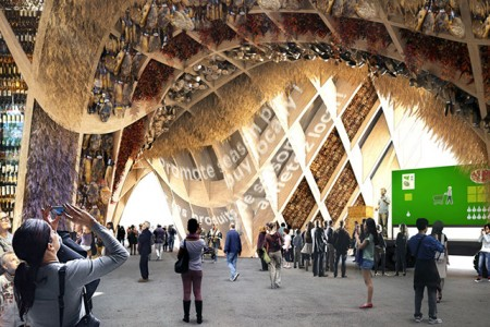 Image virtuelle de l?intÈrieur du Pavillon France pour l?Exposition universelle 2015 ‡ Milan (Ita