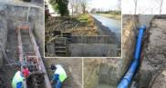 Prise d'eau et canalisation d'eau brute