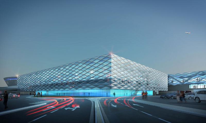 Extension du terminal 2 de l'aéroport Nice Côte d'Azur