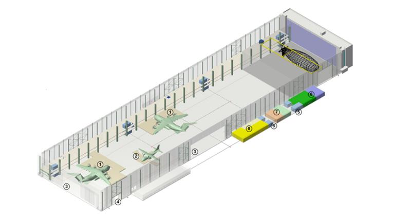 r habilitation de l 39 ancien centre de montage mercure tpfi. Black Bedroom Furniture Sets. Home Design Ideas