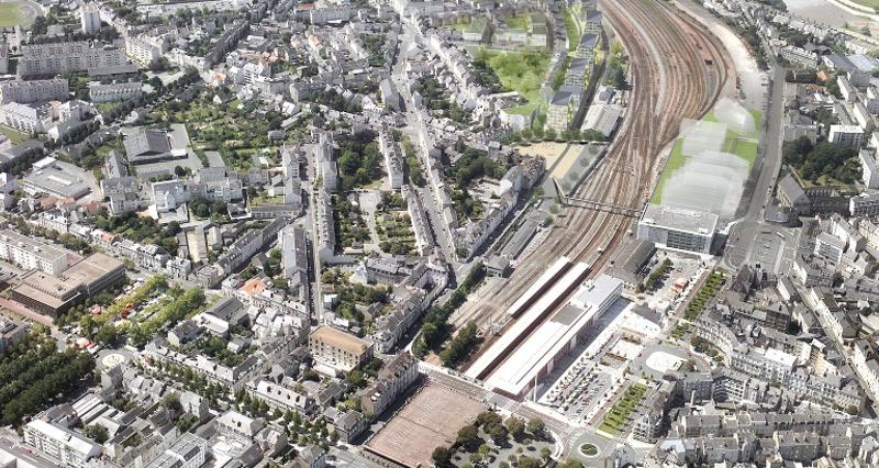 Aménagement urbain Cours Saint Laud