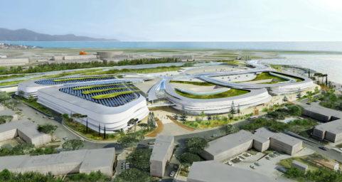 Extension et rénovation du Centre commercial Cap 3000 avec création de :  26 000 m² de surface de vente 2000 places de stationnement supplémentaires nouvelles voies d'accès à la zone